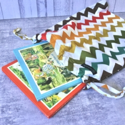 DRAWSTRING BAG | Autumn Chevron