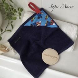 MINI HAND TOWEL   Super Mario Blue& Navy