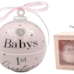 BABY FIRST CHRISTMAS BAUBLE GIRL
