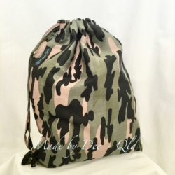DRAWSTRING BAG | Camo Green