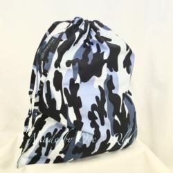 DRAWSTRING BAG | Camo Blue