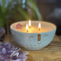 Peace crystal essential oil candle bowl