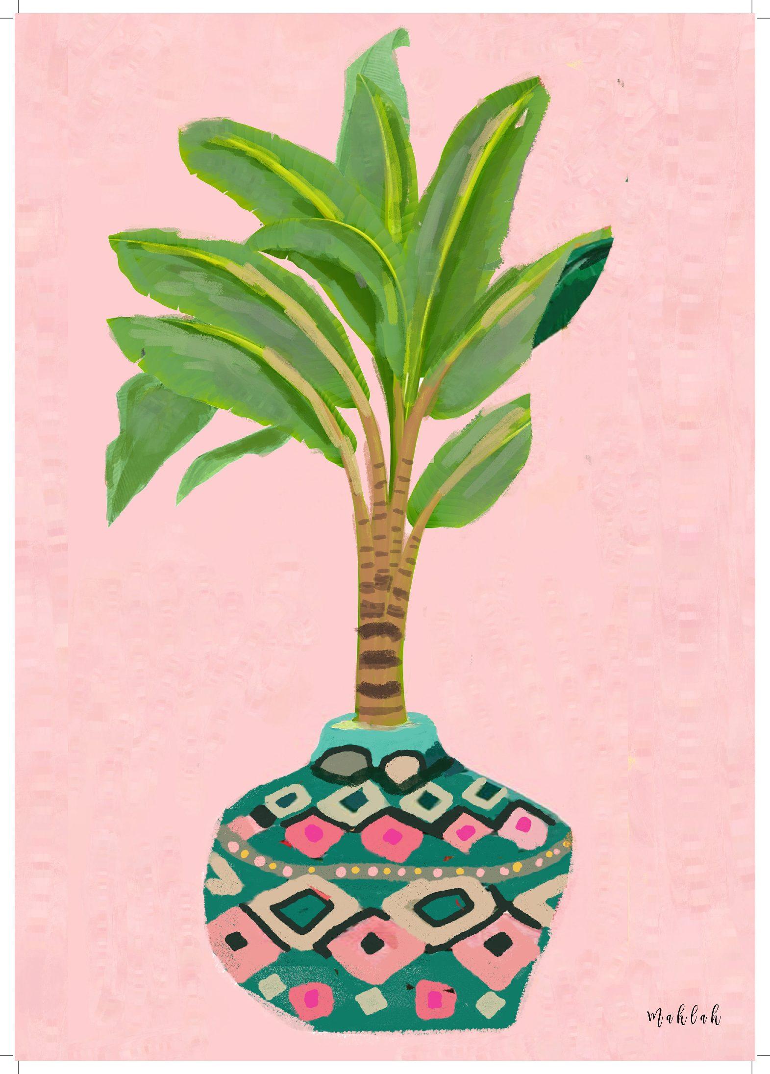 A3 300gsm Palm unframed Print by Mahlah (Copy) (Copy)