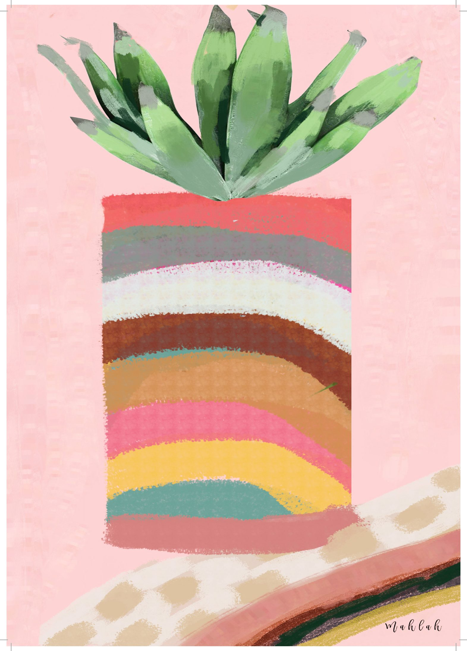 A3 300gsm unframed Plant Print by Mahlah