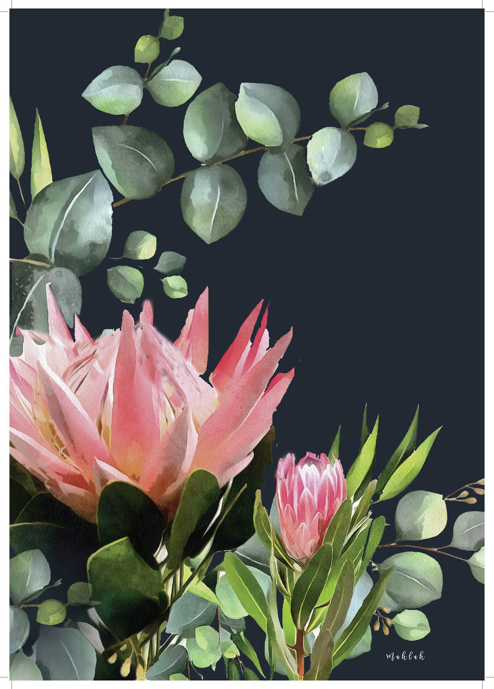 A3 300gsm unframed Bush Pink Print by Mahlah
