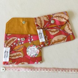 Handmade Privacy Pouch – Abstract Mustard