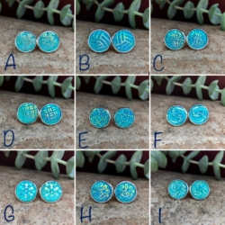 12mm Aquamarine Studs: Stainless Steel (Lead & Nickel Free)