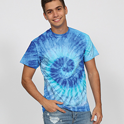 Blue Tie Dye T Shirt