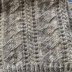 Diamond and Cable Scarf