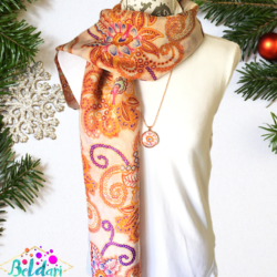 Paisley scarf with matching necklace set – FREE POSTAGE – 14 other designs available in our store.