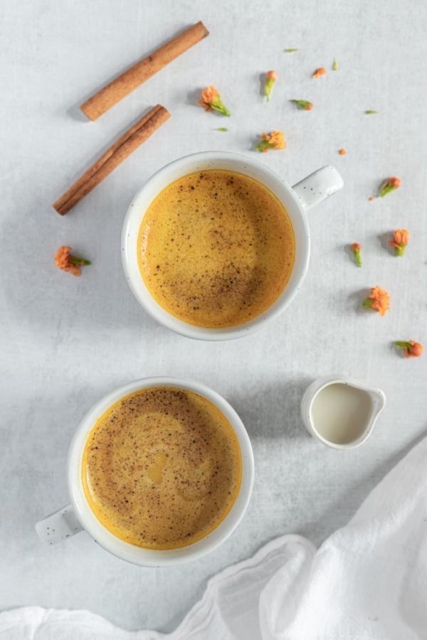 Collombatti Naturals Golden Turmeric Chai In a Tea Cup