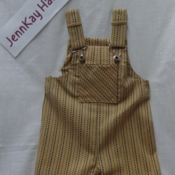 Baby Bib and Brace Shorts – Brown – 12 months