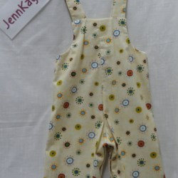 Baby Bib and Brace Overalls – Yellow – 12 months
