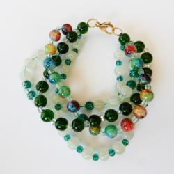 Long Green Multi Strand Bracelet