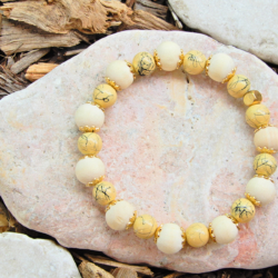 Yellow & Gold Stack Bracelet