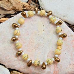 Yellow and Bronze Bracelet