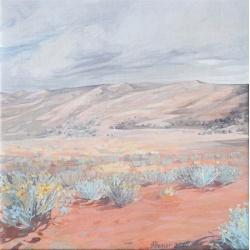 Desert & Blue Bush Landscape Print