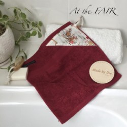 MINI HAND TOWEL | At the Fair – Cherry Red & White