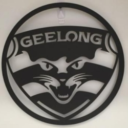 AFL Metal Wall Art – GEELONG CATS 50CM