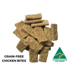 Grain-Free Chicken Bites dog treats.