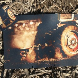 Tractor Plowing at Dusk Placemat & Coaster Set