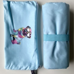Inkheart Sand Free, quick dry towel (Pug with glasses design)