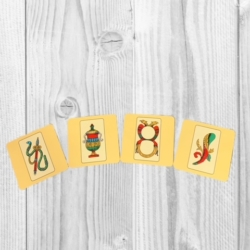 SET OF DECORATED CORKED BACK COASTER- design : SCOPA