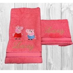 EMBROIDERED HAND-TOWEL SET – PEPPA & GEORGE