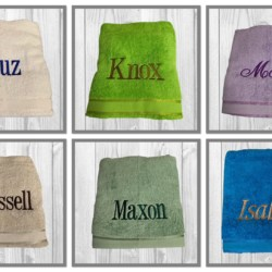PERSONALISED EMBROIDERED BATH TOWEL/ BATH SHEET