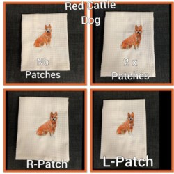 EMBROIDERED TEA TOWEL – ' CATTLE DOG '