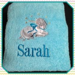 EMBROIDERED BATH/ SHEET TOWEL – UNICORN