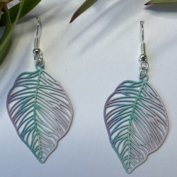Leaf filigree statement earrings – FREE POSTAGE