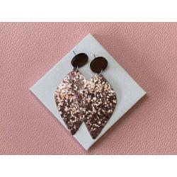 Soft Pink Glitter statement stud earrings – FREE POSTAGE