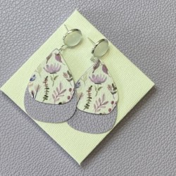 Floral statement stud earrings – FREE POSTAGE
