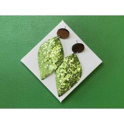 Green Glitter statement stud earrings – FREE POSTAGE