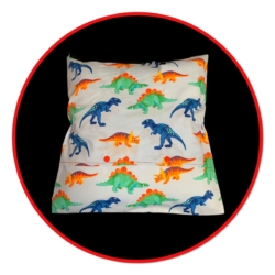 HANDMADE READING/IPAD CUSHION + INSERT – DINOSAUR