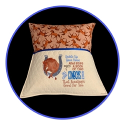 HANDMADE READING/IPAD CUSHION + INSERT – HORSES
