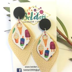 Ice Cream statement stud earrings – FREE POSTAGE