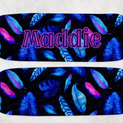 Neon Tropical Icy Pole Holder 2, Zooper Dooper, Monstera, Pink, Blue, Leaf
