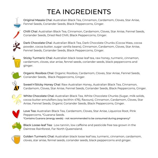 Collombatti Naturals 10 Pack Ingredients List