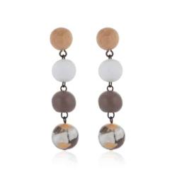Wooden Earrings Jewellery Fashion Dangle Earrings GENESIS Earring – BSE410115