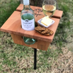 Drink Stand-Wine Style/Rose *FREE SHIPPING