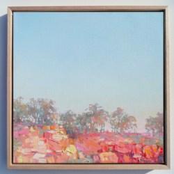 Sunset Over Outback Cliffs Landscape Print