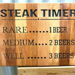 Timber Sign- Steak Timer *FREE SHIPPING