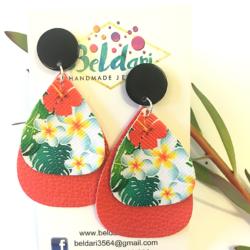 Tropical statement stud earrings – FREE POSTAGE