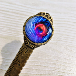 Peacock Feather Bookmarks / Letter Openers / Rulers – 2 styles