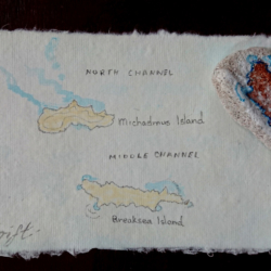 map painted on paper