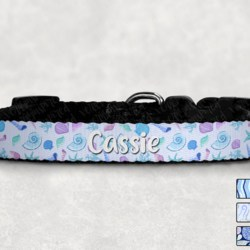 Personalised Under the Sea Print Dog Collar