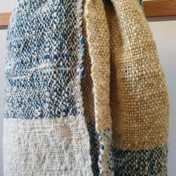 Handwoven Natural Dyed Cotton Scarf (Free Shipping)