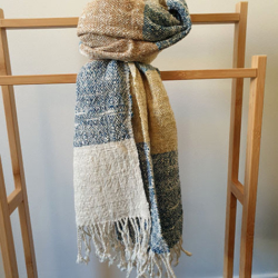Handwoven Natural Dyed Cotton Scarf